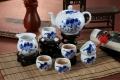 手繪陶瓷功夫茶具套裝青花整套家用蓋碗茶杯禮品定制