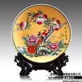 供应定制logo陶瓷纪念盘80厘米