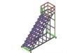 工業鋁型材框架定制設備維修登高梯踏步梯