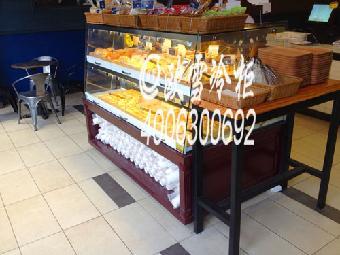 中山蛋糕店老婆饼陈列展示中岛柜尺寸有哪些