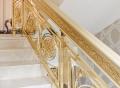 铝板雕刻金色楼梯护栏