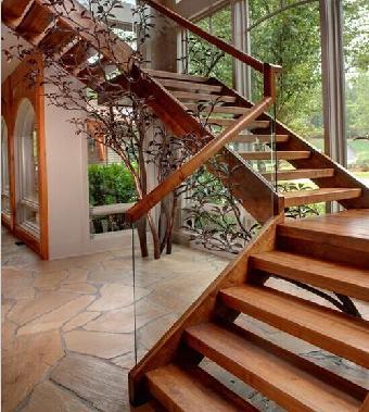 建筑,装饰 建筑装璜设计  半圆形玻璃楼梯工艺控制 霸气的圆形玻璃