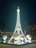 大型发光埃菲尔铁塔出租出售户外埃菲尔铁塔摆件