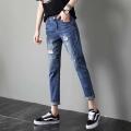 韓版牛仔褲批發市場直批低價尾貨牛仔褲1至5元貨源
