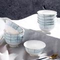 中式陶瓷米飯碗4.5寸高腳碗定制圖案