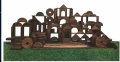 實木玩具加工 戶外組合攀爬架 幼兒園碳化積木