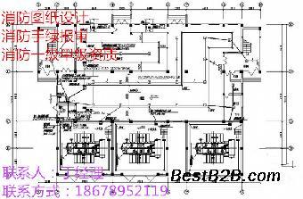 青岛消防图纸排水装修设计卫生间坡度设计图纸图片