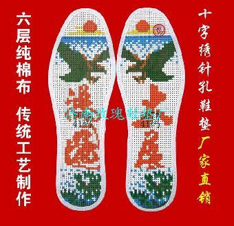 十字绣图案有上百种,花鸟鱼虫十字绣鞋垫