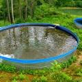 新型鍍鋅板帆布魚池大型戶外高密度養殖池鐵桶鐵倉養魚