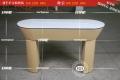 苹果圆形木纹体验台苹果弧形体验桌新款