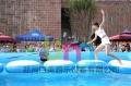 大型支架游泳池水上充氣闖關暑期經營好設備