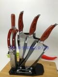 阳江刀具厂家直销彩木柄刀具六件套
