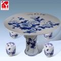 景德鎮釉上粉彩和平富貴款陶瓷桌凳套裝戶外庭院桌椅套