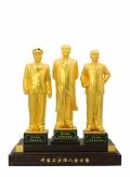 開國三大偉人金玉像 偉大領袖毛澤東周恩來朱德金玉像