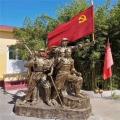 供应公园冲锋雕塑 红色文化主题雕塑