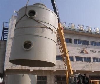 塑料酸雾洗涤塔加工厂家武汉青山塑料厂图武汉酸雾洗涤塔加工