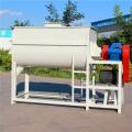 臥式單軸攪拌機廠家 家用飼料粉料混合設備 兩噸粉碎