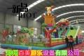 陜西榆林廣場兒童跳跳床,變色龍充氣城堡廣受歡迎