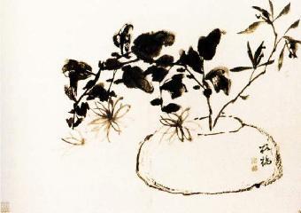 吉祥题材大多集中在人物花鸟上,因为许多人物花卉动物的组合具有传统