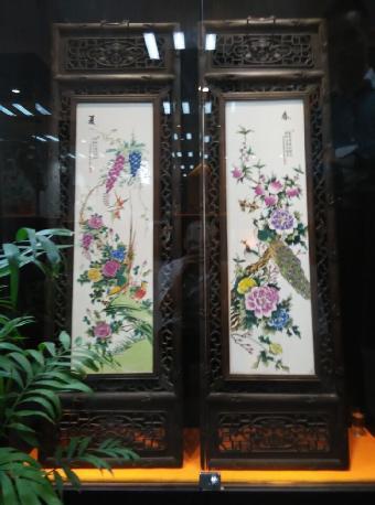 香港收藏张大凡瓷板画鉴别真假