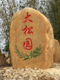 安徽大型公園名稱刻字石大型天然風景黃蠟石