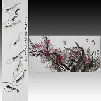 他幼即习画,初学于山东画家袁瑞寿,又从戴醇士学习山水,最后向河南