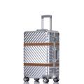 廠家批發時尚鋁框拉桿箱萬向輪行李箱男女登機箱