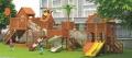 戶外木質游樂設備 木制組合滑梯 幼兒園大型滑梯