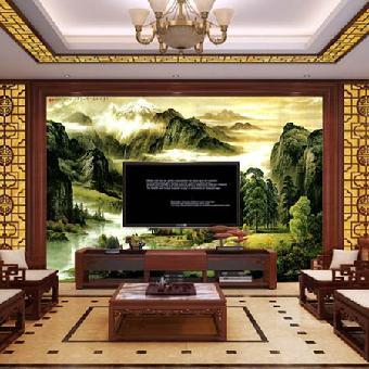 供应华玉堂瓷砖背景墙1102山水画客厅背景墙效果图