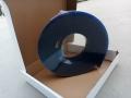 85度藍色平口絲印刮膠 AM耐溶劑鋁柄夾膠條