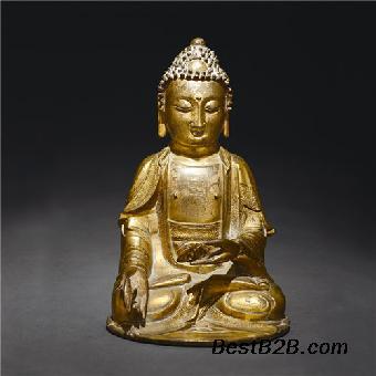 铜鎏金坐像想卖去什么地方能成交