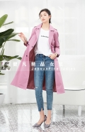 英倫風時尚秋冬女裝 簡約大氣風衣外套 品牌女裝貨源