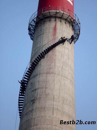 电厂双曲线砼冷却塔刷涂料画图