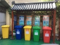 八月高檔小區鋁合金垃圾分類投放亭低價供應