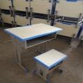 南陽幼兒園課桌凳 學生單人鋼木課桌凳