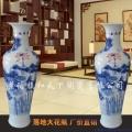 陶瓷花瓶純銅蓋擺件新中式客廳插花景德鎮陶瓷大花瓶