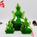 藏傳佛教琉璃佛像 綠度母琉璃佛像佛像批發