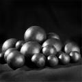 20mm球磨机耐磨钢球45#碳钢锻造实心钢球