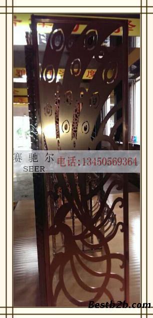 不锈钢古铜门花-孔雀造型