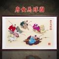 賈大雙大師作品 千年宮廷補繡 首個雙國禮 唐女馬球