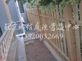 怀柔防腐木栅栏设计,围栏设计施工公司