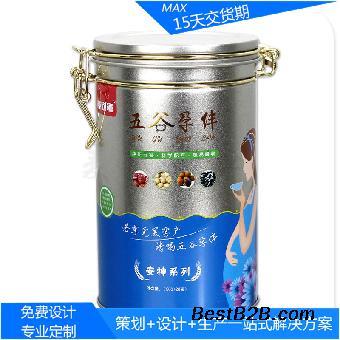 创意红枣枸杞茶带铁扣金属盒 养生食品包装马口铁盒