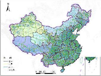 全国乡镇行政区划地图数据,shp格式