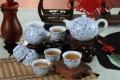 青花瓷功夫茶具整套 家用手繪陶瓷蓋碗茶杯泡茶壺套裝