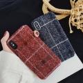 適用ipxsmax線條手機殼大紅格子日韓簡約素材殼