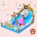 四川资阳庙会巨鲨来袭充气城堡好玩儿童们乐开花