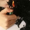 阻燃纖維 黑色預氧化碳纖維 毛氈布用高氧指數阻燃纖