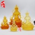 黃財神古法琉璃佛像 寺廟法會結緣佛像供奉
