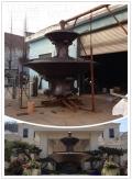 貴州別墅門口鍛銅水缽雕塑 水池中銅雕擺件