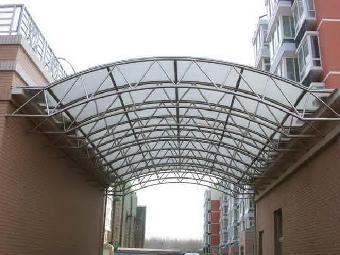 上海钢结构雨棚安装 睿玲钢构 钢结构雨棚防水